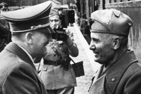 Mussolini et Hitler
