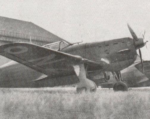 Avion Morane Saulnier MS 405 de l'armée française en 1940