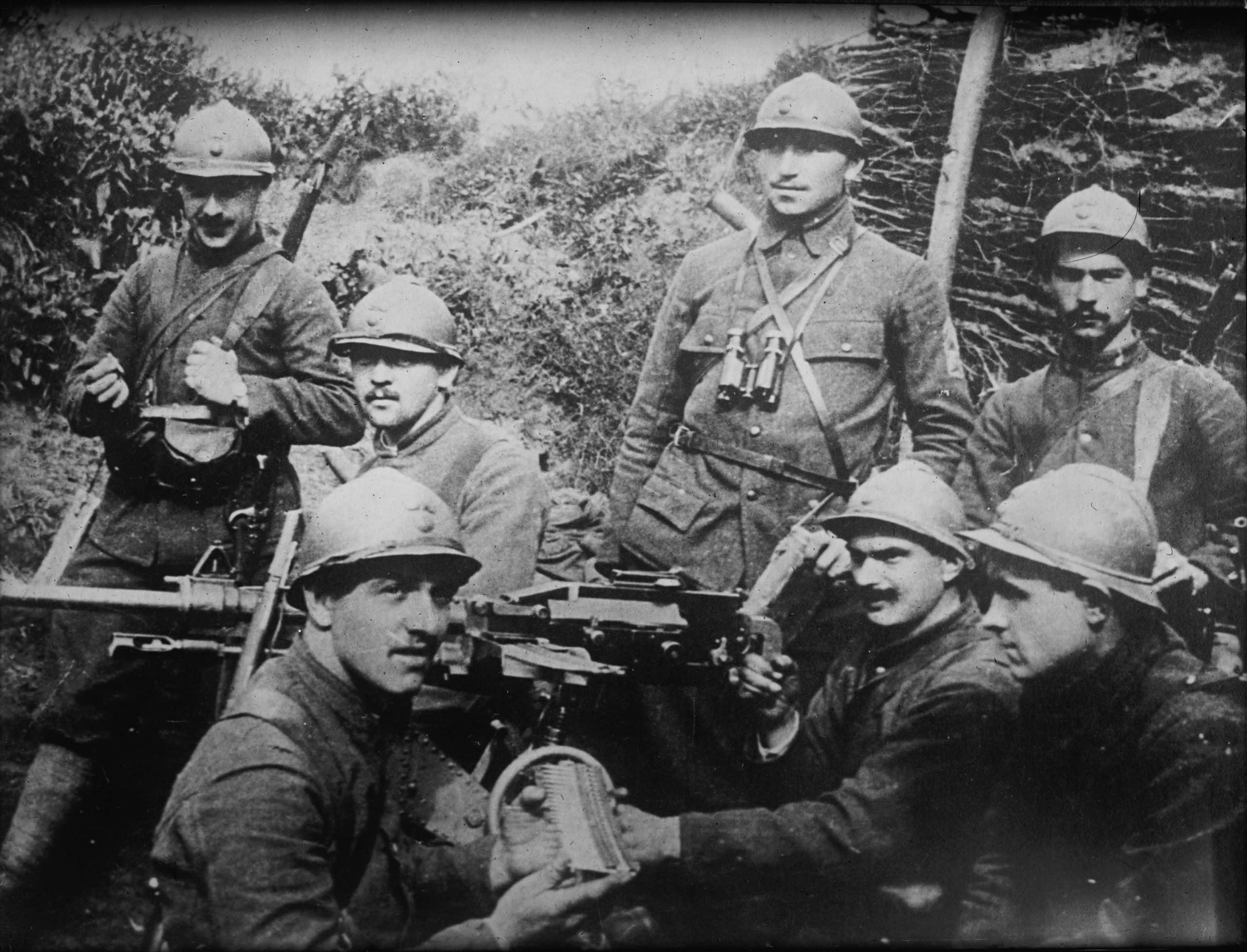 Des soldats de l'armée française au cours de la première guerre mondiale